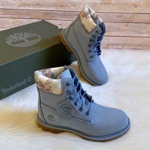 "Timberland Premium 6"" Waterproof Light Blue Boots"